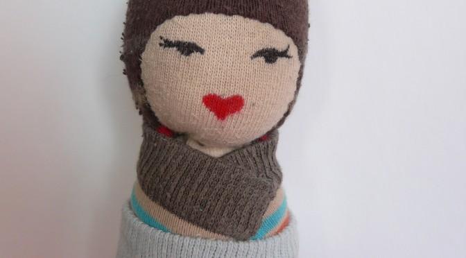 Tuto Kawaï Kokeshi avec de vieilles chaussettes!