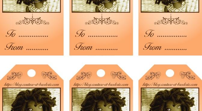 etiquettes vintage pour ca no l artisan d 39 art art doll teddy. Black Bedroom Furniture Sets. Home Design Ideas