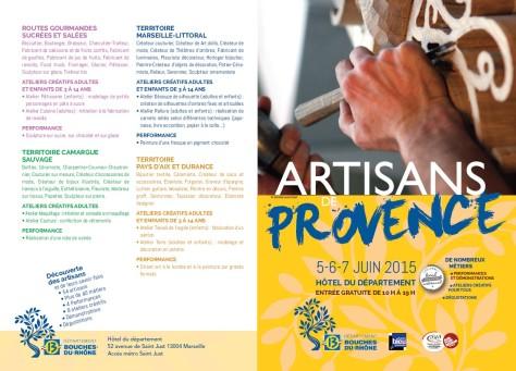 Dépliant Artisans de Provence 2015_1