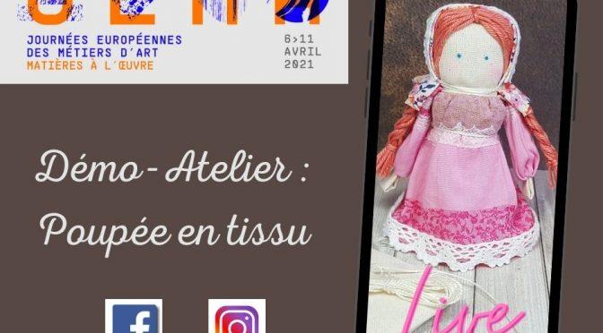 JEMA : Démonstration d'une poupée en tissu